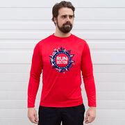 Men's Running Long Sleeve Performance Tee - Run for Boston
