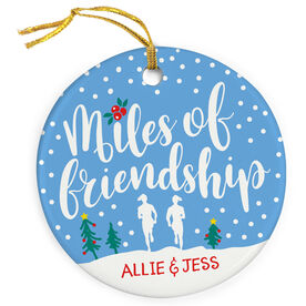 Running Porcelain Ornament - Miles Of Friendship