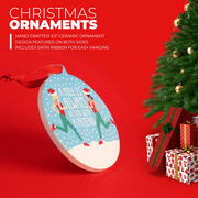 Running Round Ceramic Ornament - A Mile is Always Better with a Friend