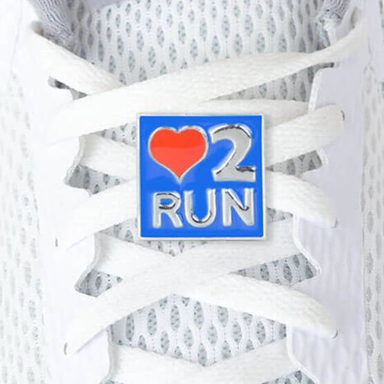 LaceBLING Shoelace Charm - Love To Run