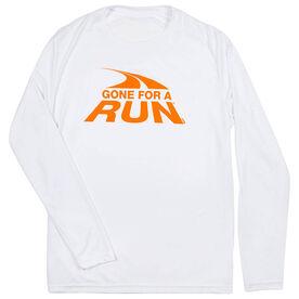 Men's Running Long Sleeve Tech Tee Gone For a Run Logo
