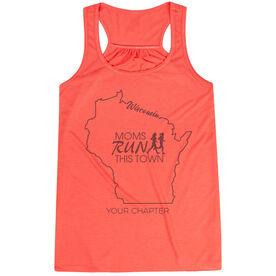 Flowy Racerback Tank Top - Moms Run This Town Wisconsin Runner
