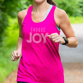 Women's Racerback Performance Tank Top - Choose Joy