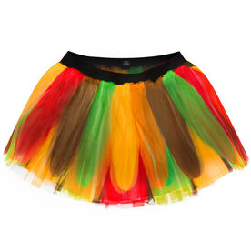Runner's Printed Tutu - Turkey Feathers