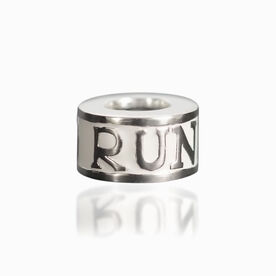 Sterling Silver Love to Run Large Hole Bead
