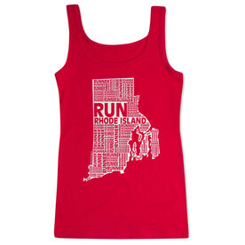 Women's Athletic Tank Top Rhode Island State Runner