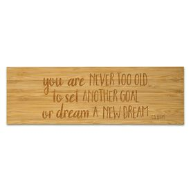 """Running 12.5"""" X 4"""" Engraved Bamboo Removable Wall Tile - Never Too Old"""