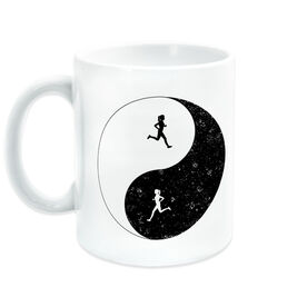 Running Coffee Mug - Runner Girl Yin Yang