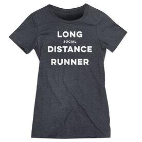 Women's Everyday Runners Tee - Long Social Distance Runner