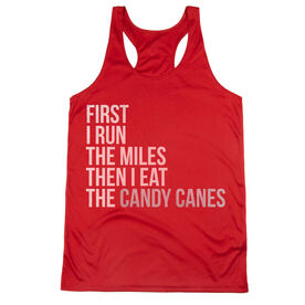 Women's Racerback Performance Tank Top - Then I Eat The Candy Canes