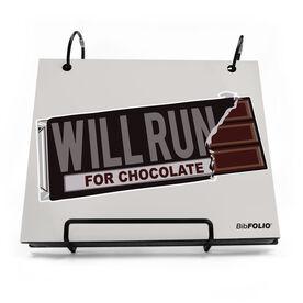 BibFOLIO® Race Bib Album - Will Run For Chocolate