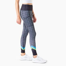 Women's Performance Side Pocket Tights - Day of the Run