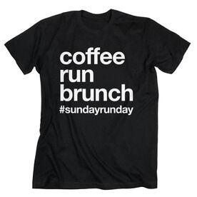 Running Short Sleeve T-Shirt - Coffee Run Brunch