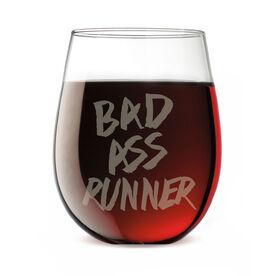 Running Stemless Wine Glass Bad Ass Runner