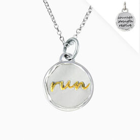 Livia Collection Sterling Silver and 14K Gold Vermeil Run Token Necklace