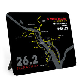 Running Desk Art - Marine Corps 26.2 Route