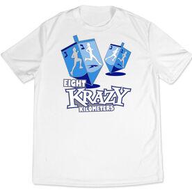 Men's Running Customized Short Sleeve Tech Tee Lucky Eight Krazy Kilometers