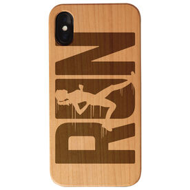 Running Engraved Wood IPhone® Case - Run Like A Girl