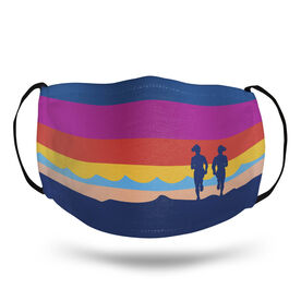 Running Face Mask - Sunset with Runners
