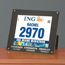 BibDISPLAY - Runners Race Bib Frame - Courage to Start