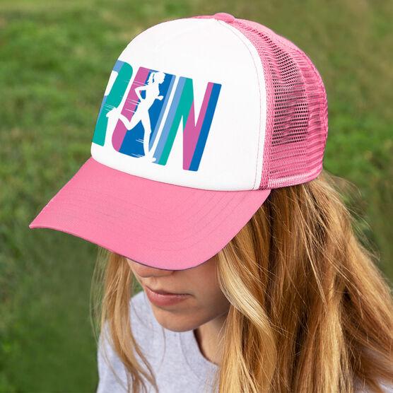 Running Trucker Hat - Run Like A Girl (Simple)