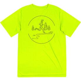 Men's Running Short Sleeve Tech Tee - Trail Runner Sketch
