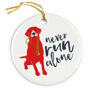 Running Porcelain Ornament Never Run Alone