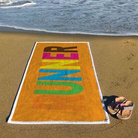 Running Premium Beach Towel - Runner Colorful
