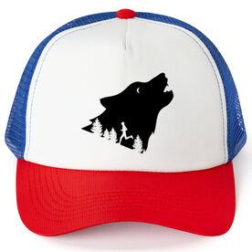 Running Trucker Hat - Run Wild Wolf