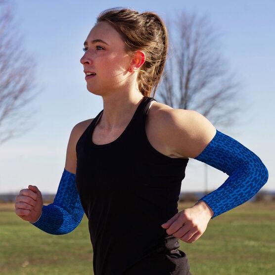 Running Printed Arm Sleeves - Run Run Repeat