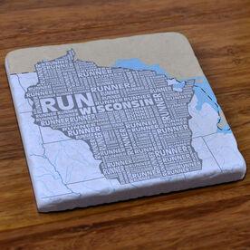 Wisconsin State Runner Stone Coaster