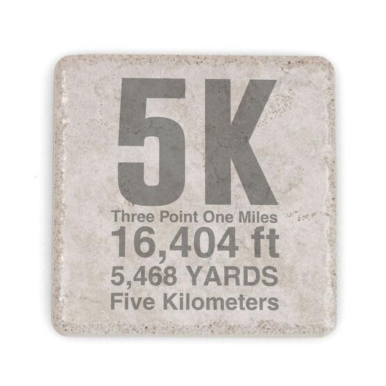 Running Stone Coaster - 5k Math Miles