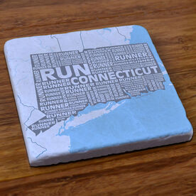 Connecticut State Runner Stone Coaster