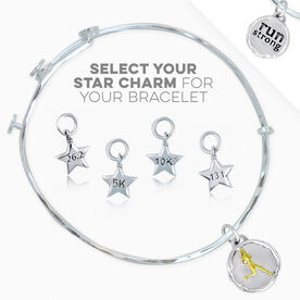 Livia Collection Sterling Silver and Gold Vermeil Run Strong Token Adjustable Bangle