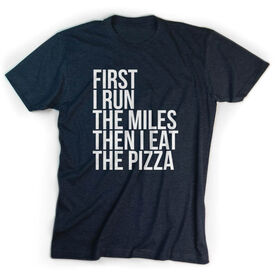 Running Short Sleeve T-Shirt - Then I Eat The Pizza