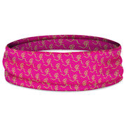 Running Multifunctional Headwear - Girl Stick Figure Pattern Pink RokBAND