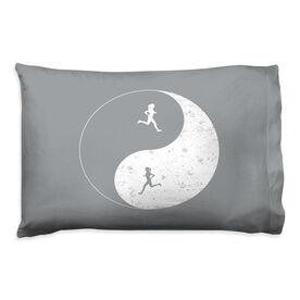 Running Pillow Case - Runner Girl Yin Yang
