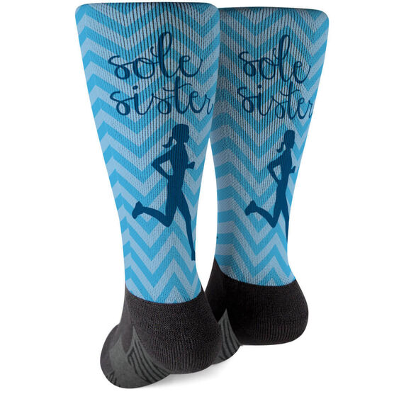 Running Printed Mid-Calf Socks - Sole Sister