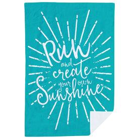 Running Premium Blanket - Run With Sunshine