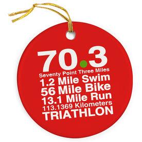Triathlon Porcelain Ornament 70.3 Math Miles
