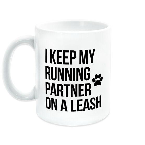 Running Coffee Mug - I Keep My Running Partner On A Leash