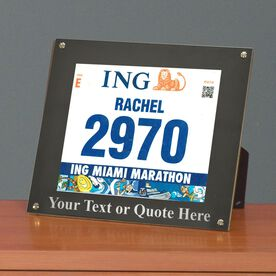 BibDISPLAY - Runners Race Bib Frame - Your Own Text