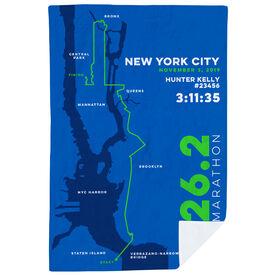 Running Premium Blanket - Personalized New York City Map