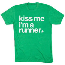 Running Short Sleeve T-Shirt - Kiss Me I am a Runner Saying