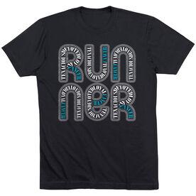 Running Short Sleeve T-Shirt - Cancer Zodiac Runner