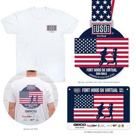 Virtual Race - USO Fort Hood Memorial Day 5K Run/Walk sponsored by GEICO local office (2021)