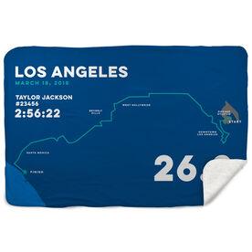 Running Sherpa Fleece Blanket - Los Angeles 26.2 Route