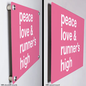 "Running 18"" X 12"" Wall Art - Peace Love & Runner's High"