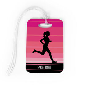 Running Bag/Luggage Tag - Personalized Runner Girl