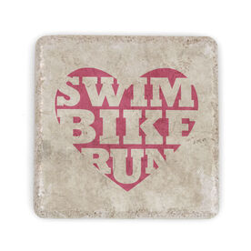 Triathlon Stone Coaster Swim Bike Run